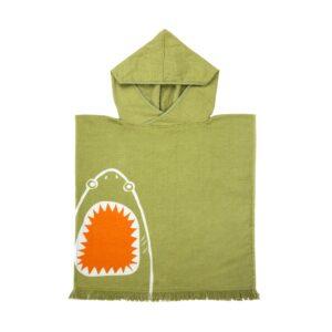 Beach Poncho Shark Attack – Olive
